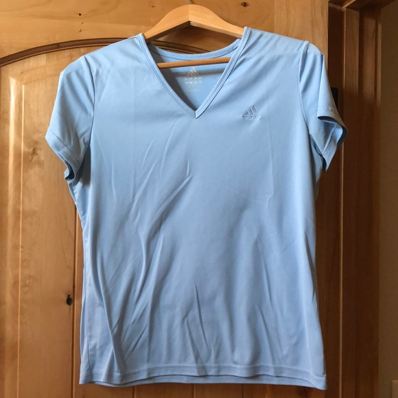 1abbb2c77d80b Light blue Adidas V-neck T-shirt